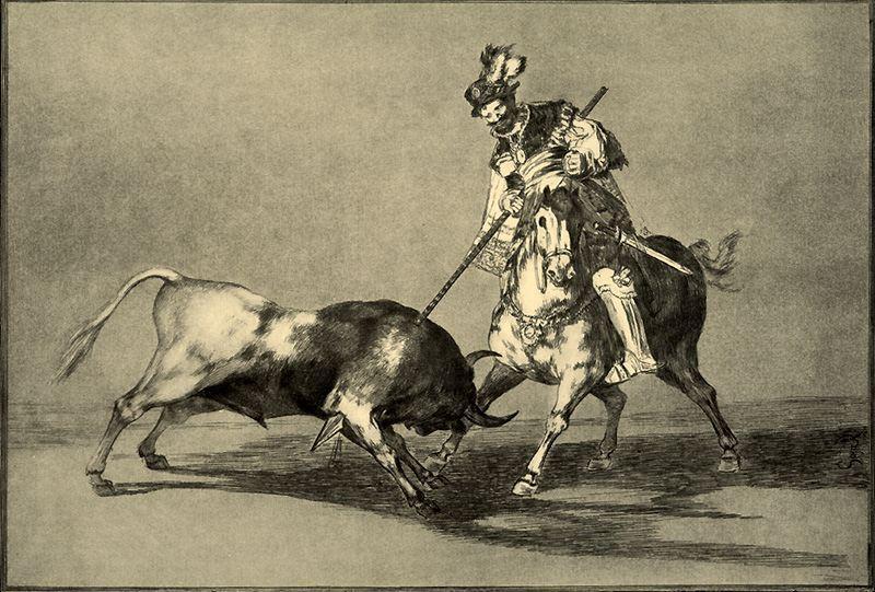 Francisco-de-Goya-El-Cid-Campeador-lanceando-otro-toro